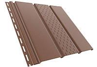 Сайдинг софит Asko коричневый (панель 3,5 м * 0,305 м)