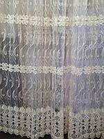 Тюль шитье золотой нитью