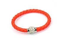 Браслет Шамбала магнитный/бижутерия/цвет оранжевый
