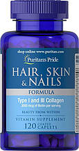 Волосы,ногти,кожа Puritan's Pride Hair, Skin & Nails Formula 120 Caplets