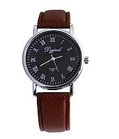 Мужские наручные часы с коричневым ремешком код 303