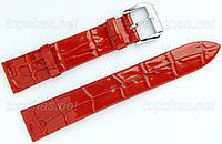 Кожаный ремешок Slava (Слава) для наручных часов - 22 мм, оранжевый