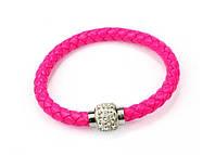 Браслет Шамбала магнитный/бижутерия/цвет розовый