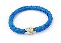 Браслет Шамбала магнитный/бижутерия/цвет голубой