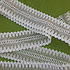 Тесьма хлопковая отделочная - 57 мм (бело-серая)