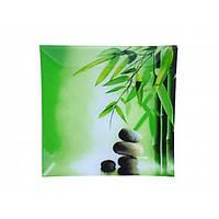 """Фруктовница стекло """"Зеленый бамбук"""" 20см 306"""