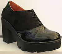 Туфли на широком каблуке Д - 10