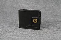 Классическое портмоне с монетницей | Черный Краст , фото 1