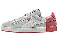 "Мужские кроссовки Staple x Puma Suede ""Pigeon"" Star White & Georgia Peach Grey/Red"