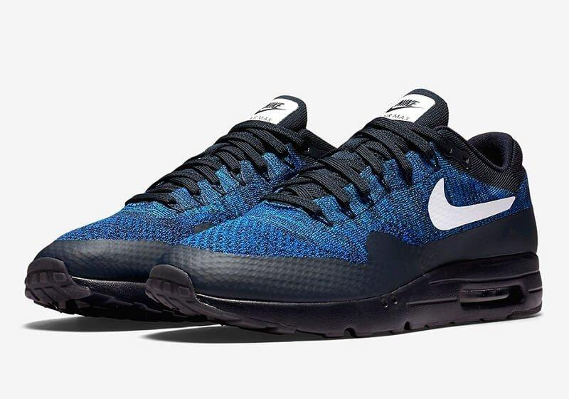 Кроссовки в стиле Nike Air Max 87 Ultra Flyknit Blue/Black