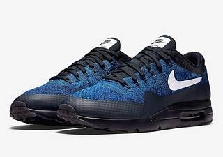 Кроссовки мужские в стиле Nike Air Max 87 Ultra Flyknit Blue/Black