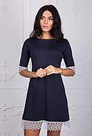 Красивое платье темно синего цвета 108-3