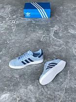 Мужские кроссовки Adidas Gazelle Blue, Адидас Газели, фото 2