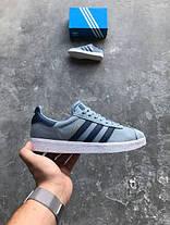 Мужские кроссовки Adidas Gazelle Blue, Адидас Газели, фото 3