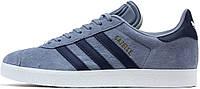 Женские кроссовки Adidas Gazelle Blue/Dark Blue