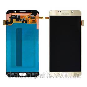 Дисплей Samsung N920 Galaxy Note 5 с сенсором Золотой Gold оригинал, GH97-17755A
