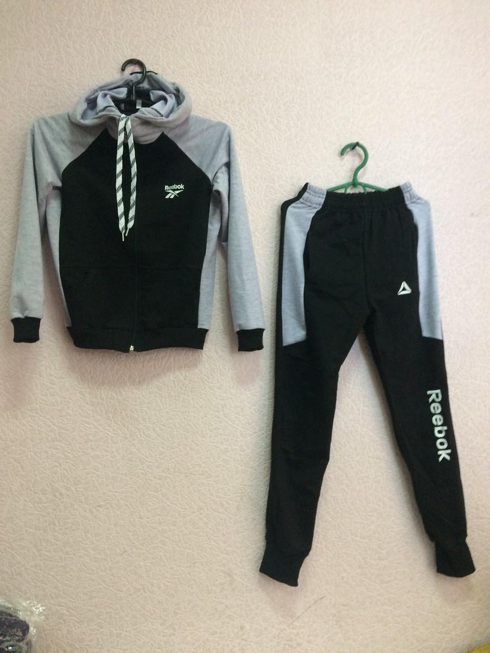 Спортивный костюм юниор серо-черный Reebok оптом - Интернет-магазин женской,  детской, f72c0b5698d