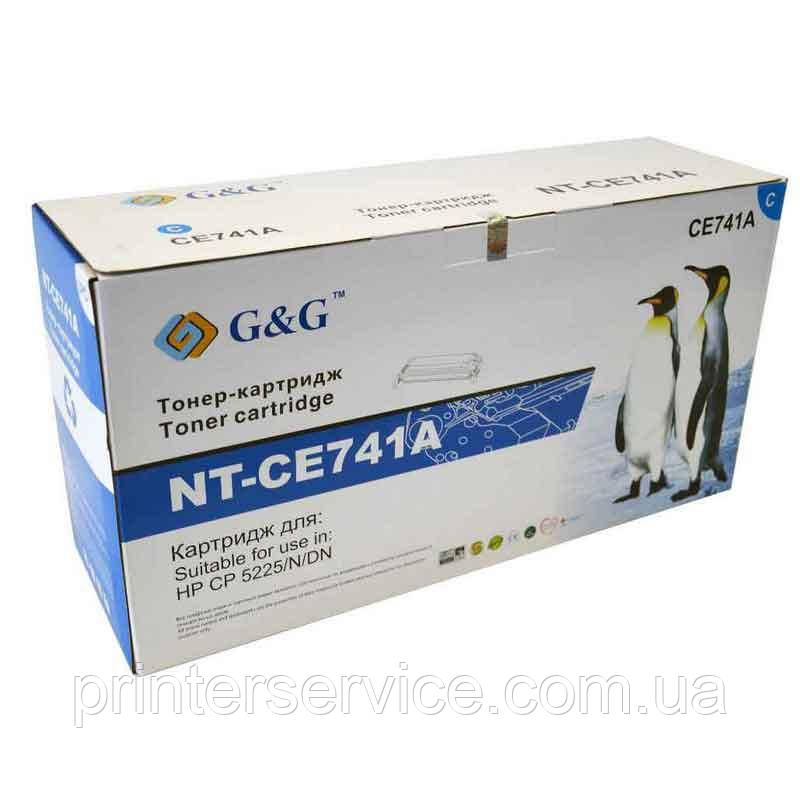 Картридж аналог HP CE741A Cyan для HP CP5225 (G&G NT-CE741A)