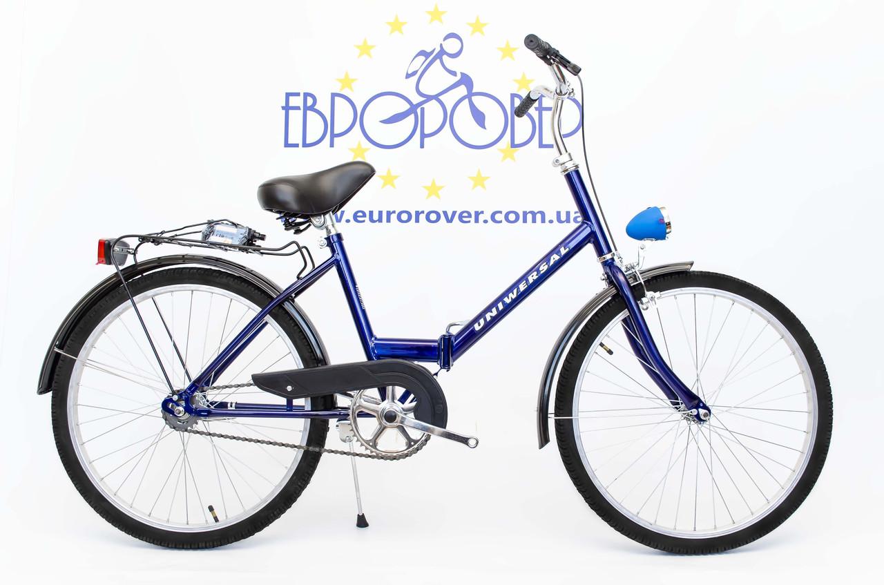 e6d2c2ba02a4b9 Купить Складний велосипед Uniwersal 24 Blue Польща с доставкой по ...