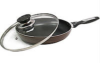 Алюминиева сковорода с антипригарным покрытием D=28 см Vincent VC-4457-28 mix