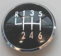 Накладка / эмблема ручки  переключения передач VW 7M3711144C