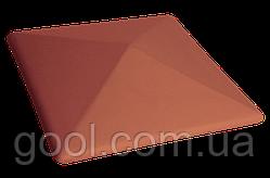 Колпак керамический клинкерный King Klinker цвет красный размер 310х310х80 мм