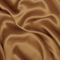 Атлас ткань - цвет молочный шоколад