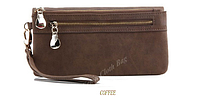 Женский кошелек-клатч  Miyahouse все цвета Темно коричневый