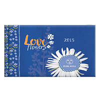 """Еженедельник датированный 2018 Brunnen Prima Maria """"Love Flowers"""" Карманный 8,7х15,3 см"""
