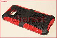 Чехол бампер для HTC One M8 bc красный с подставкой