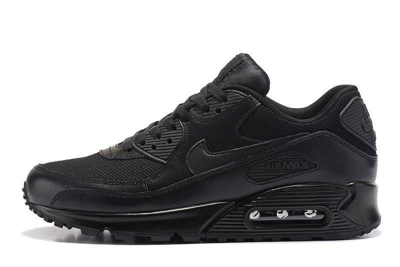 Кроссовки в стиле Nike Air Max 90 Premium Triple Black