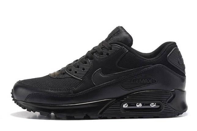 Кроссовки в стиле Nike Air Max 90 Premium Triple Black, фото 2