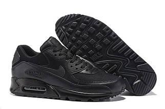 Кроссовки в стиле Nike Air Max 90 Premium Triple Black, фото 3