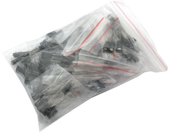 Конденсаторы набор - 120 штук (12 видов) 0,22 - 470 мкФ