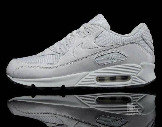 Кроссовки в стиле Nike Air Max 90 Premium White/Metallic Silver, фото 2