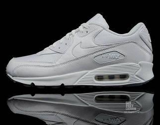 Кроссовки мужские Nike Air Max 90 Premium White/Metallic Silver