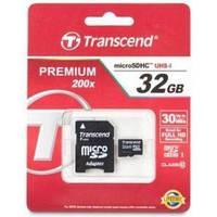TRANSCEND microSDHC 32 GB Class 10 + SD adapter