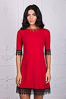 Красное молодежное платье 109-6
