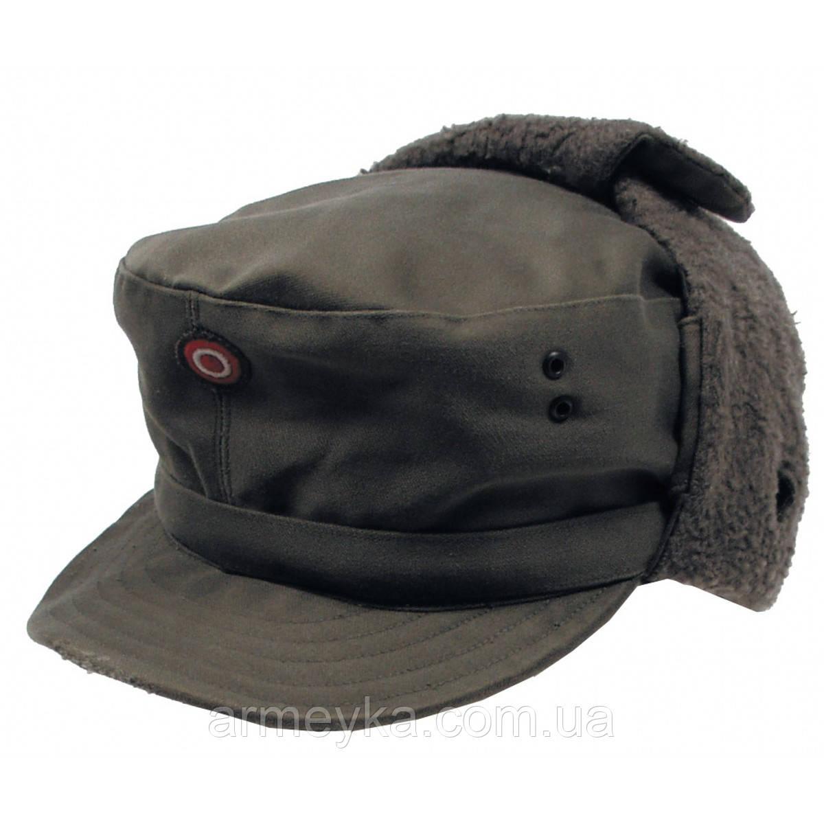 Зимняя шапка (кепи), олива. ВС Австрии, оригинал. 1-й сорт.
