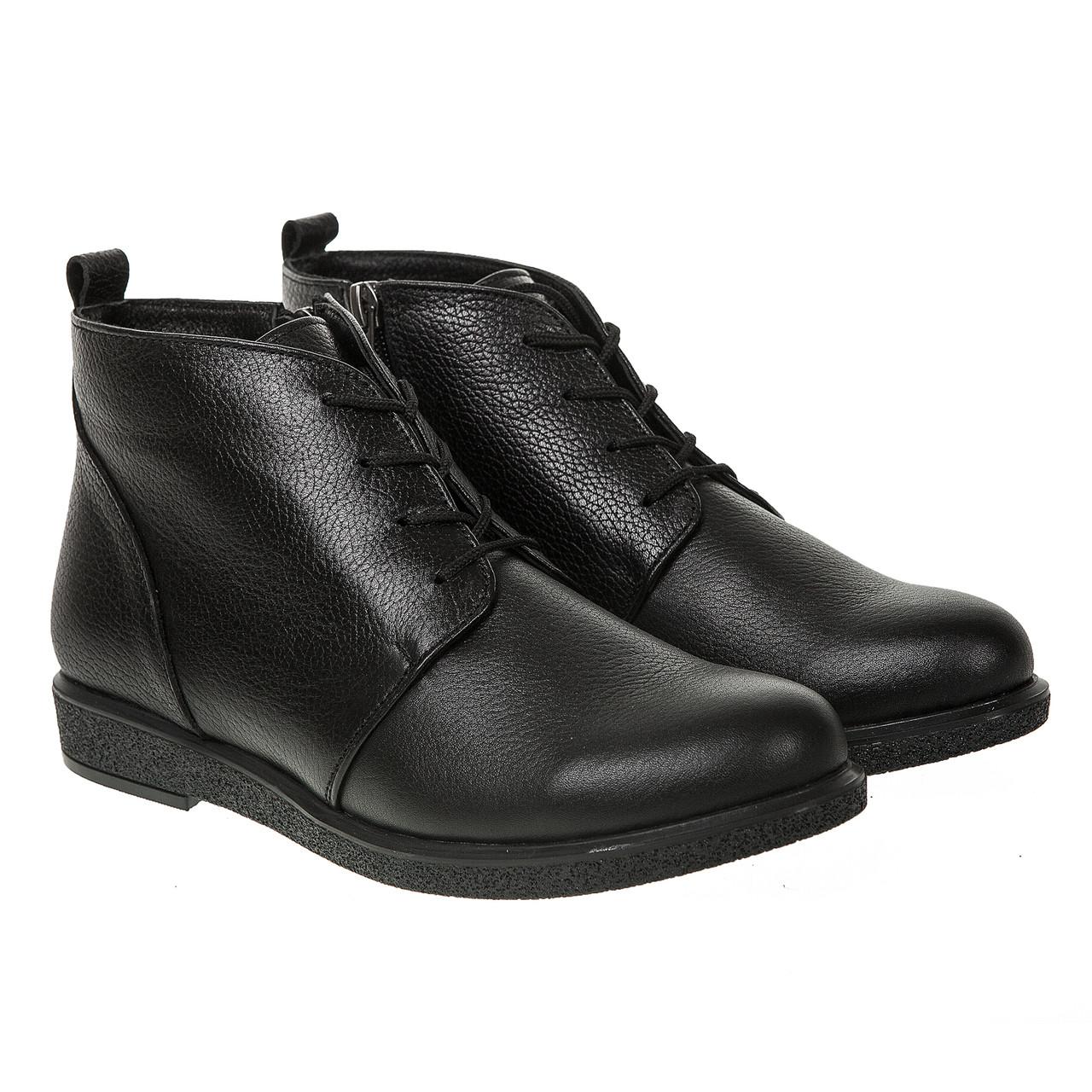 4dbb90135 Ботинки женские Mariani (черные, на шнурках, удобные, комфортные)