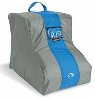Чехол для обуви с ручкой Tatonka Trekking Shoe Bag warm grey (серый/синий), 200 den Polyester PU TAT 3155.048