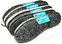 Стельки для обуви светлая ШЕРСТЬ 100% на ФЕТРЕ, зимние стельки, фото 1