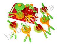 Набор посуды 36 предмета с подносом (в сетке) 04-423