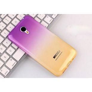 Силиконовых чехол Meizu U20 (фиолетово-желтый)