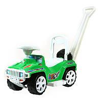 """Машинка каталка """"Ориончик"""" 856 """"Орион"""" с ручкой,зеленая"""