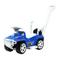 "Машинка каталка ""Ориончик"" 856 ""Орион"" с ручкой ,синяя"