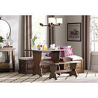 Обеденный стол с угловым сегментом