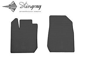 Dacia Logan  2013- Комплект из 2-х ковриков Черный в салон