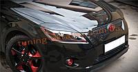 Реснички на фары широкие из АБС пластика для Kia Ceed 1 2007-2012 хэтчбек