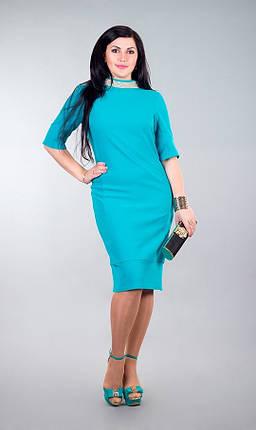 """Стильное женское платье приталенного кроя """"хлопок+стрейч костюмная"""" 50, 52, 56 размер норма, фото 2"""